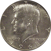 1968 D Kennedy Half Dollar Value | CoinTrackers