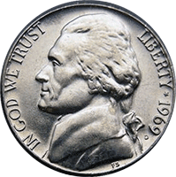 1969 D Jefferson Nickel