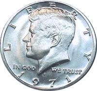 1971 D Kennedy Half Dollar Value Cointrackers