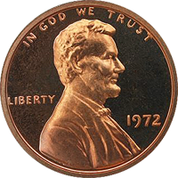 1972 Lincoln Penny