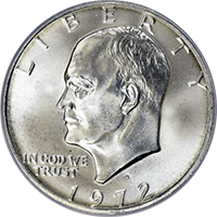 1972 S Eisenhower Dollar Proof