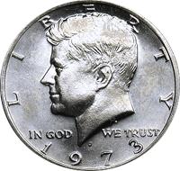 1973 D Kennedy Half Dollar Value | CoinTrackers