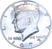1973 Kennedy Half Dollar Value Cointrackers