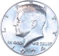1974 S Kennedy Proof Half Dollar beautifully struck    L01