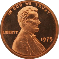 1975 S Lincoln Penny Proof