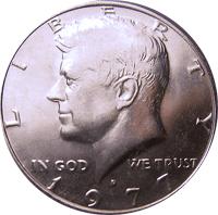 1977 D Kennedy Half Dollar Value Cointrackers