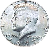 1977 D Kennedy Half Dollar BU CN-Clad Mint Cello US Coin