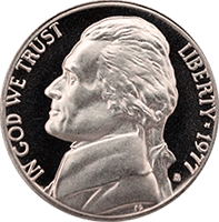 1977 S Jefferson Nickel Proof