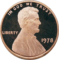 1978 S Lincoln Penny Proof