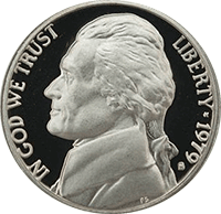 1979 S Jefferson Nickel Proof