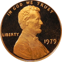 1979 S Lincoln Penny Proof
