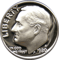 1980 P Roosevelt Dime Value | CoinTrackers