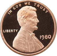 1980 S Lincoln Penny Proof