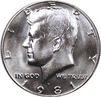 1981 D Kennedy Half Dollar Value | CoinTrackers