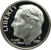 1981 D Roosevelt Dime Value | CoinTrackers