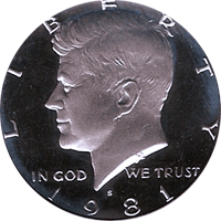 1981 S Kennedy Half Dollar Proof
