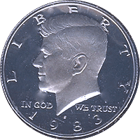 1983 S Kennedy Half Dollar Proof