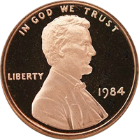 1984 S Lincoln Penny Proof