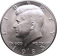 1985 D Kennedy Half Dollar Value | CoinTrackers