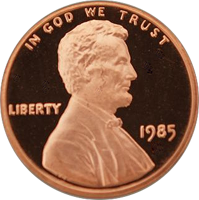 1985 Lincoln Penny