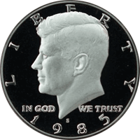 1985 S Kennedy Half Dollar Proof