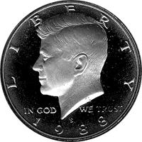 1988 S Kennedy Half Dollar Proof