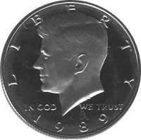 1989 S Kennedy Half Dollar Proof