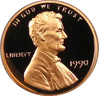 1990 S Lincoln Penny Proof