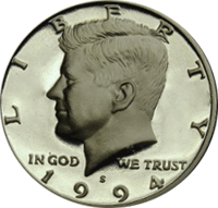 1993 S Kennedy Half Dollar Proof