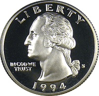 1994 P Washington Quarter