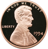 1994 S Lincoln Penny Proof