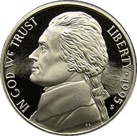 1995 P Jefferson Nickel Value | CoinTrackers