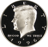 1996 S Kennedy Half Dollar Proof