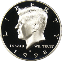 1998 S Kennedy Half Dollar Proof
