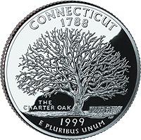 1999 P Connecticut State Quarter
