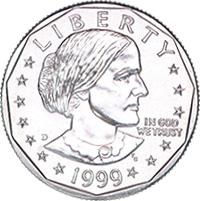 1999 P Susan B Anthony Dollar