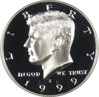 1999 S Kennedy Half Dollar Proof