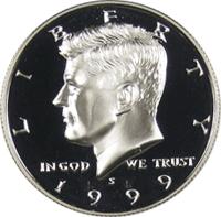 1999-S Silver Proof Kennedy Half Dollar
