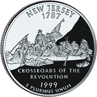 1999 S New Jersey State Quarter Proof