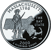 2000 D Massachusetts State Quarter