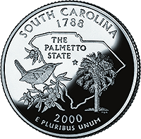 2000 D South Carolina State Quarter