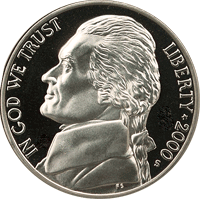 2000 S Jefferson Nickel Proof