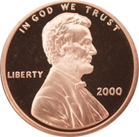 2000 S Lincoln Penny Proof