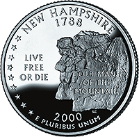 2000 S New Hampshire State Quarter Proof