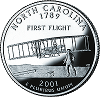 2001 S North Carolina State Quarter Proof