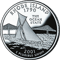 2001 S Rhode Island State Quarter Proof