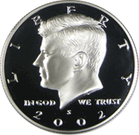 2002 S Kennedy Half Dollar Proof