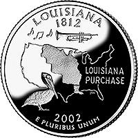 2002 S Louisiana State Quarter Proof