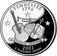 2002 S Tennessee State Quarter Proof