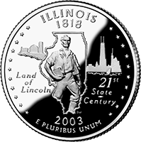 2003 P Illinois State Quarter
